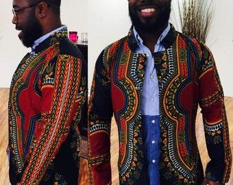 Men's Dashiki Print Blazer