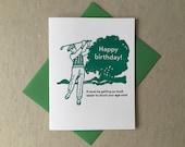 Letterpress golfer birthday card (#MIS021)