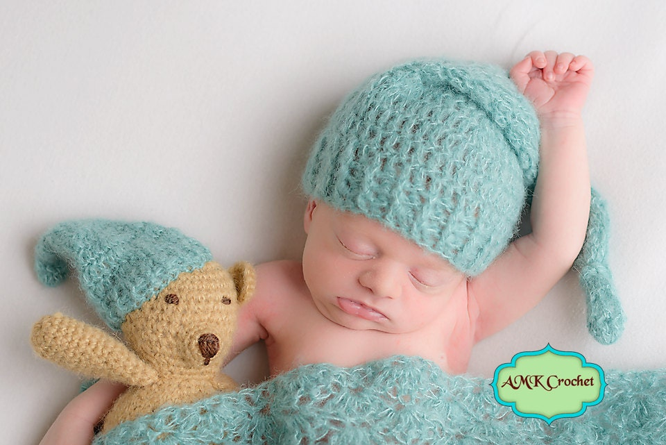 Pattern - Crochet Newborn Pattern Pack: Sleepy Stockng Hat ...