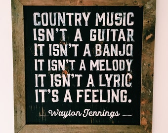 Country Music Wooden Sign