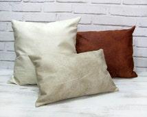 articles uniques correspondant coussin cuir blanc etsy. Black Bedroom Furniture Sets. Home Design Ideas