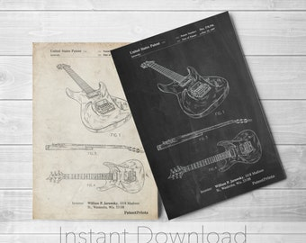 Electric Guitar Printables, Guitar Wall Art, Instrument Decor, Musician Gift, Music Room Wall Art, Guitar Gifts, PP0888