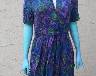Vintage 1980s Dress RJ Stevens Petites By Carol Escritor