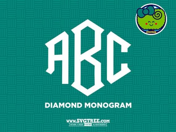 Diamond Monogram Svg Monogram Letters Svg Diamond By Svgtree