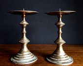 Brass Candlesticks / Brass Candle Holders -Set of 2