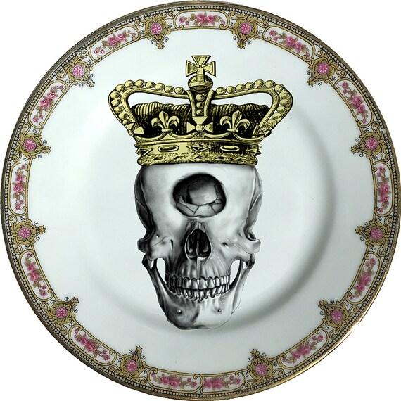 Cyclops King - Skull - Vintage Porcelain Plate - #0360
