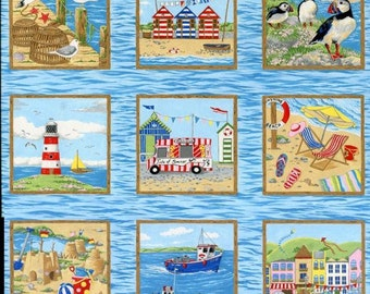 Patchwork Quilting Fabric Nutex Seaside Squares