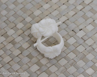 Frangi Bone Earrings, Stick Post Bone Earrings, Bali Cantik Bone Carving Jewelry