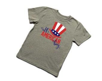 All American boy tshirt//vinyl htv//boys//toddler//baby//4th of July//patriotic