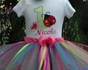 Ladybug 1st Birthday Outfit, Baby Girl 1st Birthday Outfit
