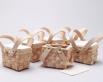 6 pcs DIY Mini Woven Picnic Baskets (ENWF-WS9155M)