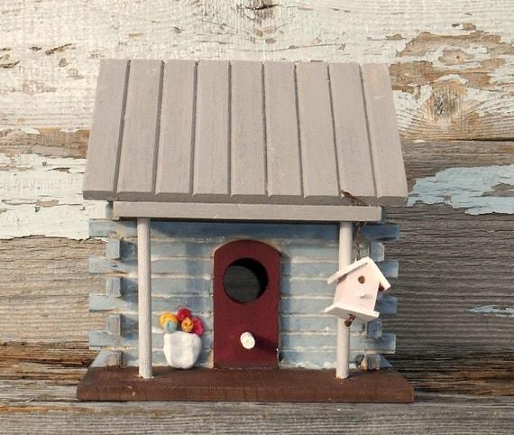 Birdhouse Decorative Birdhouse Indoor Birdhouse Log By