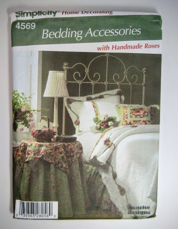 simplicity home decorating 4569 sewing pattern bedding accessories uncut from joyb2u on etsy studio - Home Decorating Bedding