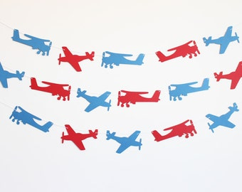 Airplane Party Banner - Customizable Colors