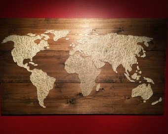 String Art World Map