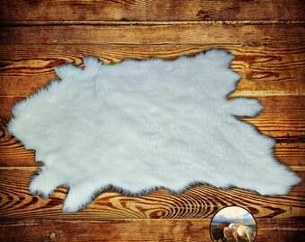 Classic Faux Fur Deer Skin Pelt Rug - Buffalo Hide Area Carpet - Fur AccentsThrow Rug - Plush - Soft - Realistic