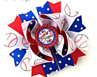 Baseball Bow, Baseball Hair Bow, Sports Bow, Sports Hair Bow, Sports Headband, Sports Hair Clip, Sports Hairbow, Baseball Hairbow