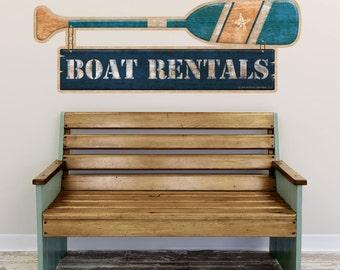 Boat Rentals Oar Nautical Wall Decal - #52293