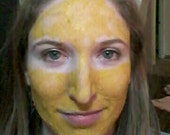 Turmeric Mask, 2oz 18 applications, Face Mask, Skin Lightening, Acne Treatment, Clay Mask, Acne Scar, Acne, Bentonite Clay, Facial Mask