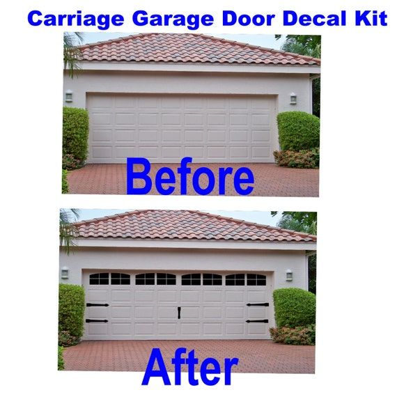 Perfect Carriage House Style Vinyl Garage Door Decal Kit Faux Windows U0026 Hardware