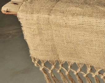 Table runner burlap wedding decoration fringes burlap