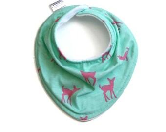 Baby bandana bib, baby bib, bandana bib, baby girl bib, drool bib, scarf bib, deer baby bib, baby bandana, baby bandana girl, baby scarf bib