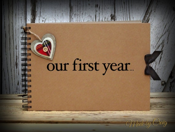 Our first year scrapbook anniversary gift