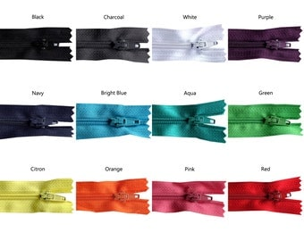 11 inch Rainbow Pack of Zippers - 25 Pieces - You Pick Colors