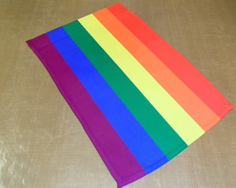 "Garden Flag 12"" x 17"" -   Rainbow Gay Pride"