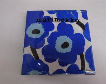 Finnish Marimekko Unniko Flowers Luncheon Napkins - Two packages of 20