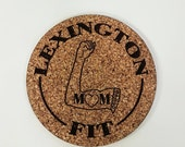 Custom Laser Engraved Coaster Set. Cork, Plywood or Solid Wood