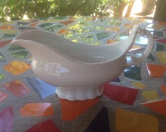 Vintage K.T. & K. China  white gravy boat