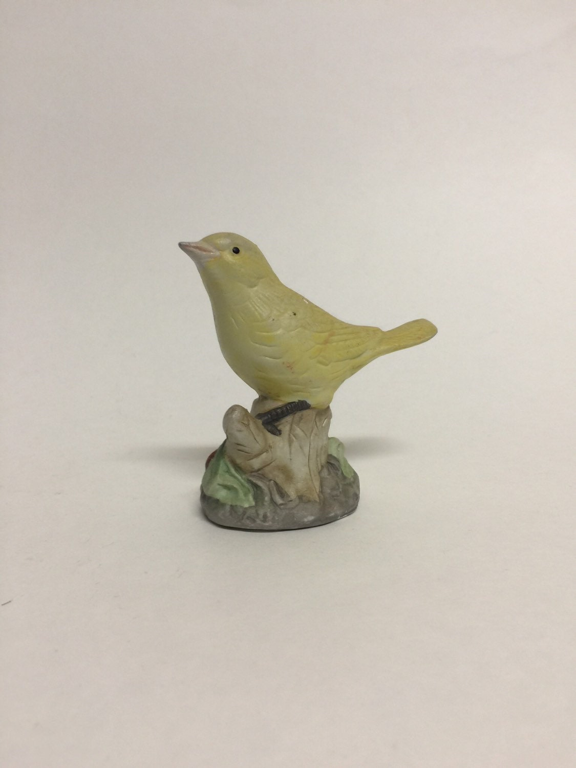 Vintage Small Yellow Bird Figurine Canary Figurine