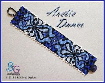 ARCTIC DANCE Peyote Cuff Bracelet Pattern