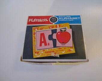 1972 Playskool Picture Alphabet Match-Ups Puzzle