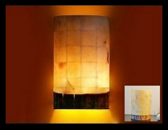 Lighting Behind Onyx Marbles : Light rustic outdoor wall sconce lighting