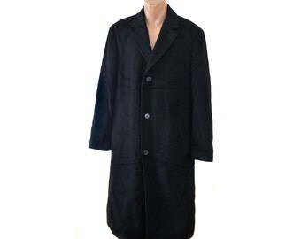 Vintage ATWARDSON Modena 85% Cashmere black men coat