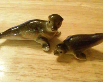 Two Adorable Little Seal Figurines