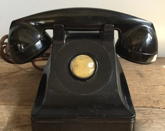 Black Western Electric Party Line Telephone