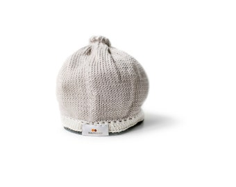 Signature Baby Hat: Taupe Black
