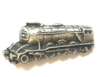 Flying Scotsman Train Pin Badge, English Pewter, Handmade (H) locomotive