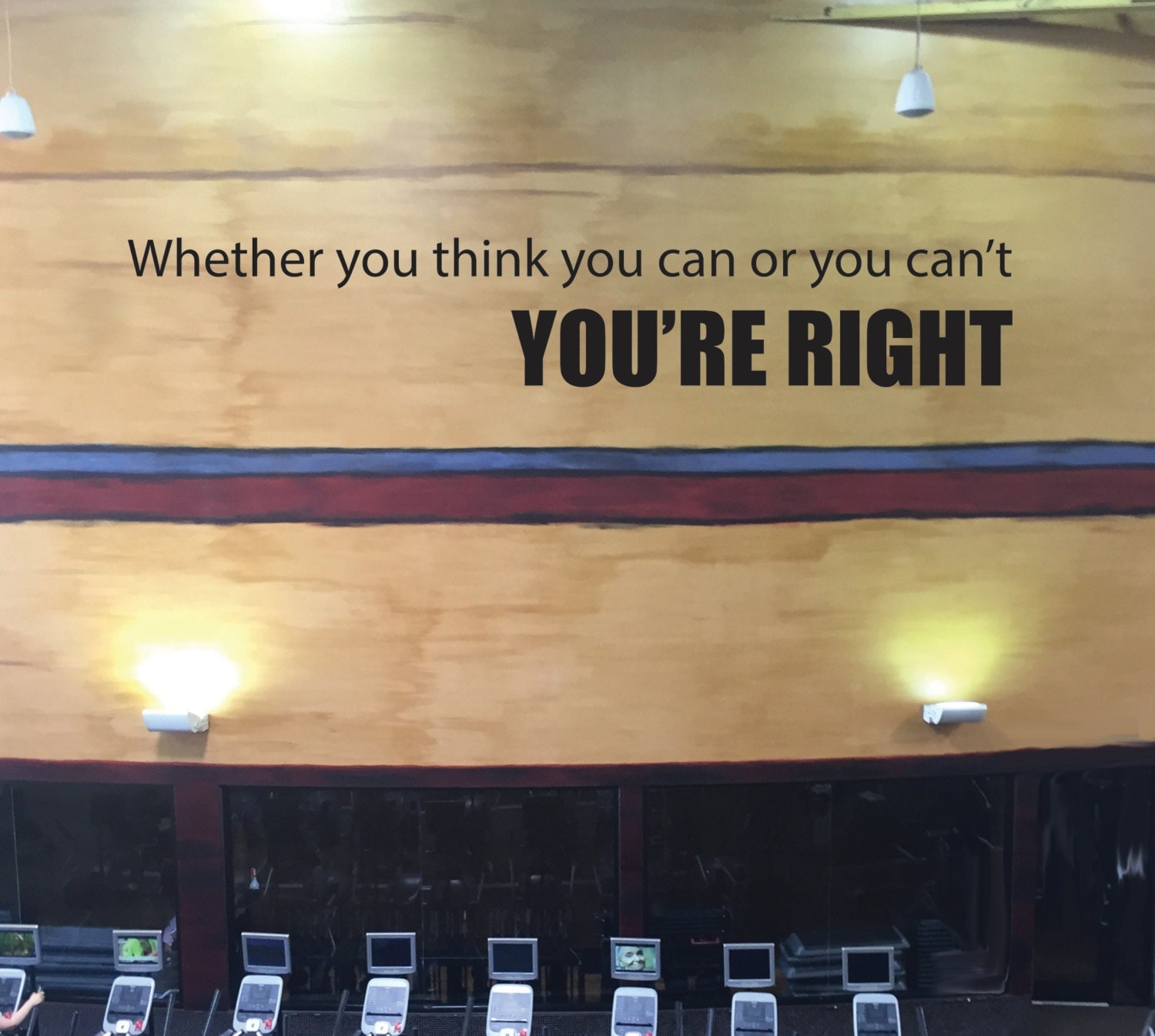 Quote Whether You Think You Can: Inspirational Exercise Quote, Whether You Think You Can Or