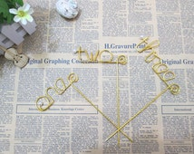 1-12 Table Number, Wire table Number, Bridal Party Table Decor-1pc