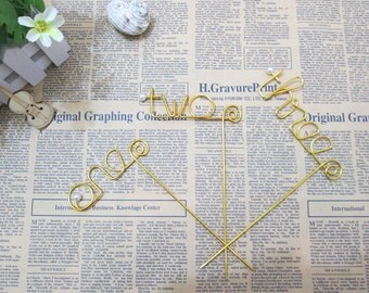 1-12 Table Number, Wire table Number, Bridal Party Table Decor-1 piece