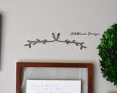 Gallery Art, Wall Art, Metal Branch, Metal Wall Art, Wall Gallery, Metal Sign, Rustic Home Decor, Rustic Modern, Wall Hanging, Wedding Gift,