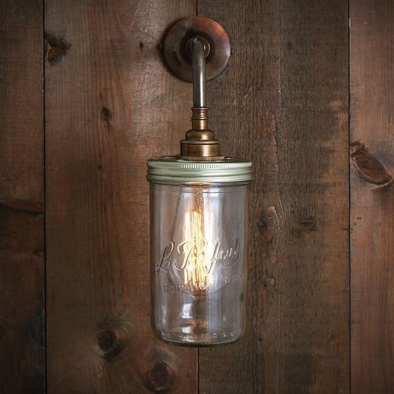 Wall Light Jam Jar : Jam Jar Wall Light