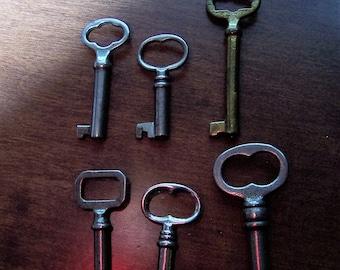 Antique 6 Vintage skeleton keys Old skeleton keys Vintage keys Key collection