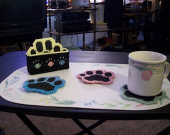 Puppy Paw Coasters
