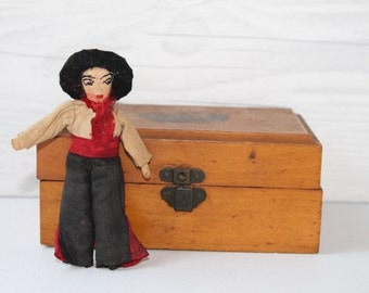 Vintage Small Cloth Doll, Vintage Small Doll, Small Antique Doll