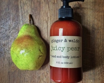 Juicy Pear Hand and Body Lotion - Juicy Pear - Hand and Body Lotion - Pear Lotion - Vegan Lotion